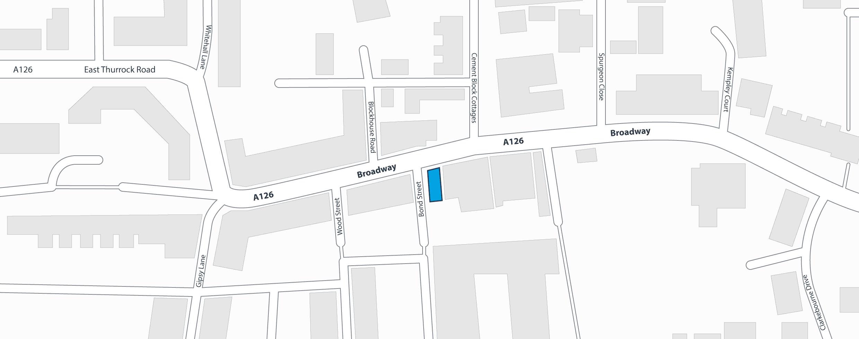 PL Taylor Location Map - 32 Broadway, Grays, Essex. RM17 6EW